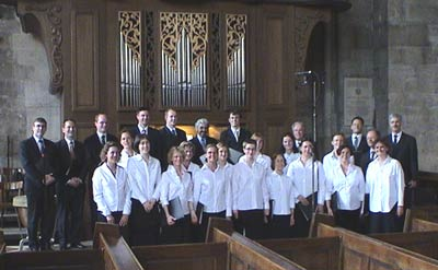 The Embassy Singers in St. Stephen's Cathedral, Vienna, 2003
